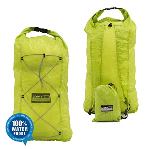 LOWID Outdoor Dry Backpack Sac à dos Vert citron 25 x 19 x 45 cm