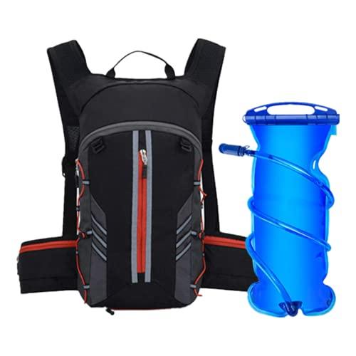 DTKJ Mochila de agua para correr, maratón de ciclismo, mochila de hidratación para hombres y mujeres, bolsa de agua, botella deportiva, Hombre, Red With Waterbag