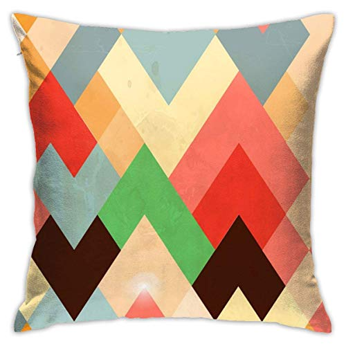 lucies Watercolor Zebra Colorful Throw Pillow Case Soft Cushion Cover 18 X 18 Inch Decorative Pillowcases Modern Square Pillow Case Home Car Decoration