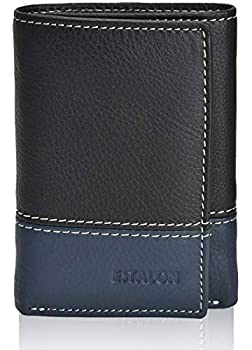 Slim Wallet for Men - RFID Blocking Real Leather Trifold Money Wallet Dual Color