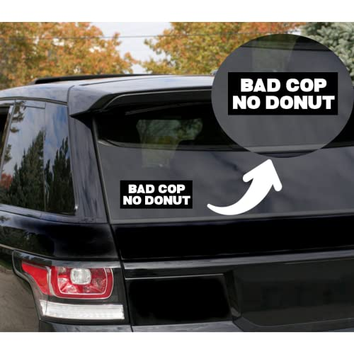 Rohansson Retail & Deals Bad Cop No Donut Vinyl Decal Sticker for Cars Trucks Vans / Laptop MacBook Compatible with All MacBook Pro, Clear Printed Decal Sticker RRD625 5.5 White