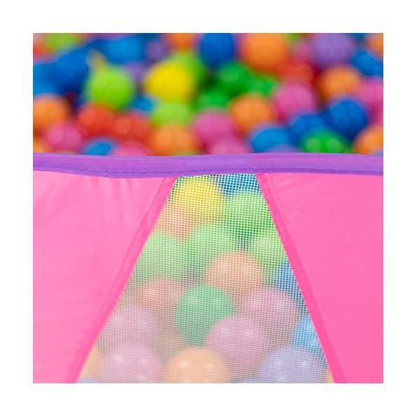 NUBUNI-Pop-Up-di-Tenda-e-Tunnel-da-Gioco-Bambini-Tenda-Giocattolo-Tunnel-Bambino-Ball-Pool-per-Bambini-e-Bambine-incl-Borsa-per-Il-Trasporto-2-Canestro-da-Baket