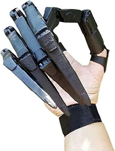 Dedos Articulados De Halloween, Articulados, Las Extensiones Dedo Articuladas Impresas 3D Se Adapta A Todos Los Tamaños Dedos, El Mejor Equipo Halloween (Color : 1pc-Left Black)