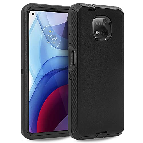 Case for Moto G Power 2021,Anloes Motorola G Power 2021 phone case Full Body Heavy Duty Shockproof Dustproof Protection, 3 in 1 Rugged Defender Protective Bumper Case,Cover for Moto G Power 2021 Black