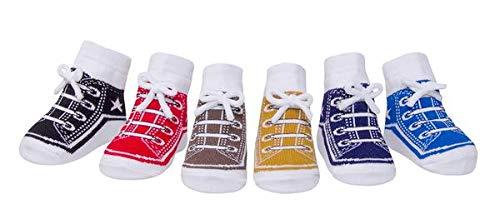 Baby Emporio 6 paires de chaussettes pour bébé garçon - coton doux - antidérapantes (KOOL KIDS-Sac, 0-12 Mois)
