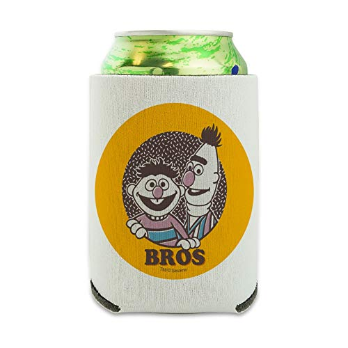 Sesame Street Bert and Ernie Bros Can Cooler - Drink Sleeve Hugger Collapsible Insulator - Beverage Insulated Holder