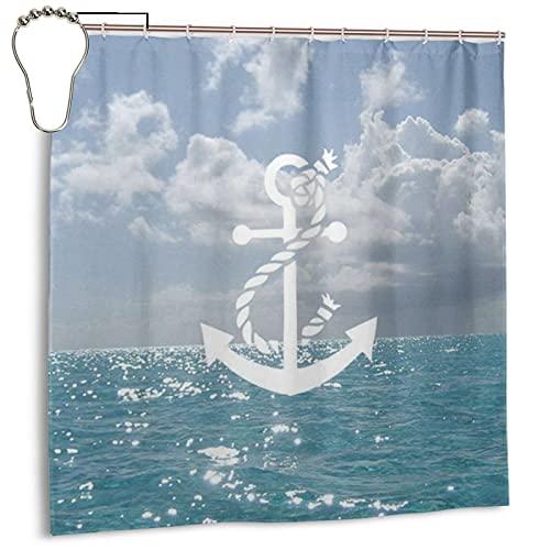 Pin By Harmony On Blu Pinterest Polyester-Duschvorhang mit Haken und Anti-Schimmel-Vorhang für Badezimmer, 183 x 183 cm