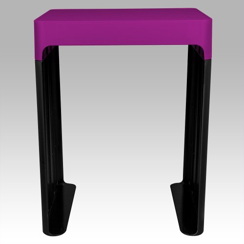 "Five Star Locker Accessories, Locker Shelf, Stackable, Holds up to 150 Lbs. Fits 12"" Width Lockers, Berry Pink/Purple (81161)"