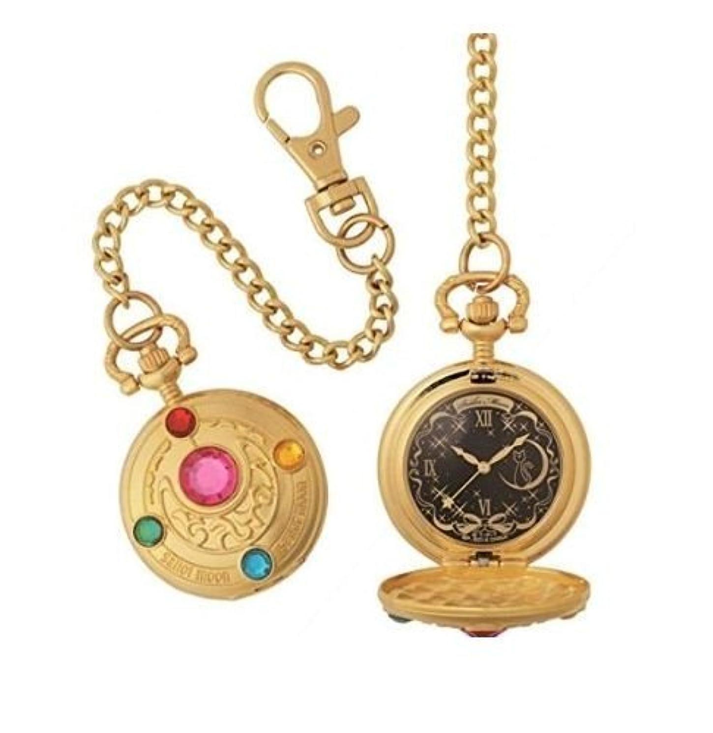 汚す証明するシリアル一番くじ 美少女戦士セーラームーン ラストワン賞 変身ブローチ型懐中時計