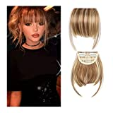 Iusun Extension Fringe Wig Female Air Bangs Hair Piece Double Temples Chemical Fiber Bangs High Temperature Wire (G)