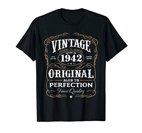 Vintage Made In 1942 T-Shirt 76th Birthday Gift