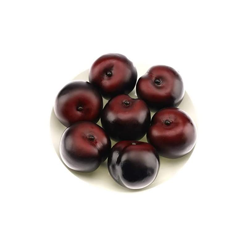 silk flower arrangements gresorth 8pcs artificial realistic brin plum fake fruit home party decoration food toy photography props model