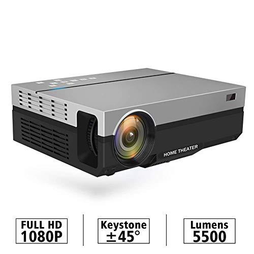 WCJ Draagbare Projector met 4000 Lumen, Mini Projector, 1280X720p Resolutie, LED Draagbare 3D Beamer voor 4K Home Cinema