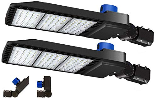 300W Led Parking Lot Light 36000LM 5000K with Dusk-to-Dawn photocell Adjustable Slip fit Mount IP65 Waterproof LED Parking Lot Lights