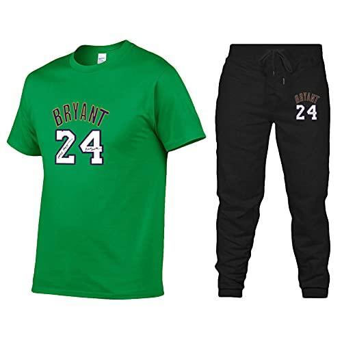 Bryant Sportswear, Lakers #24 - Camiseta deportiva para hombre y mujer (algodón, con estampado de manga corta), color verde