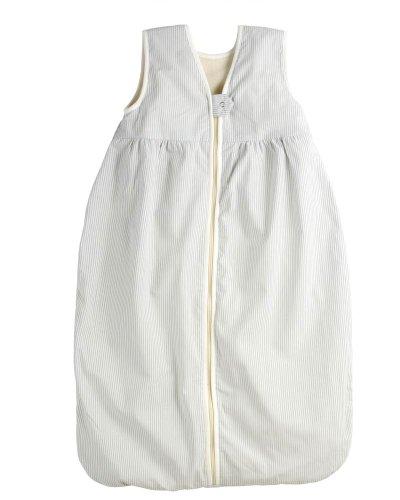 Lana Natural Wear Unisex - Baby Schlafsack Fleece Streifen, Gestreift, Gr. 80, Blau (Rauchblau/Weiß 1071)