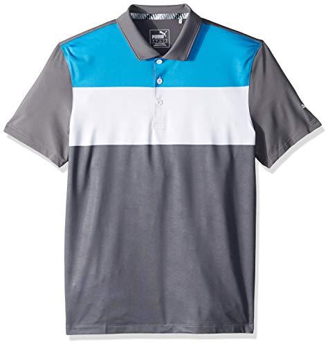 PUMA Jungen 2019 Nineties Polo, Bleu Azur-leiser Lampenschirm, Large