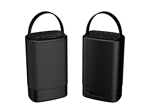 Sylvania SP096-Black Portable Outdoor Dual Bluetooth Speakers-Set of 2 Speakers (Renewed)