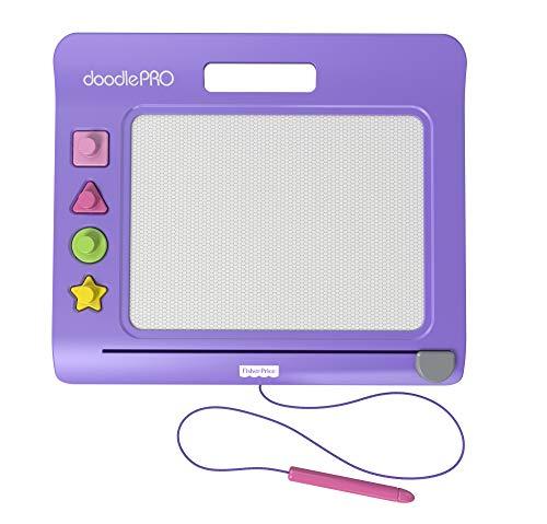 Fisher-Price Doodle Pro ardoise magique violette avec tampons, jouet pour enfant dès 3 ans, CHH61