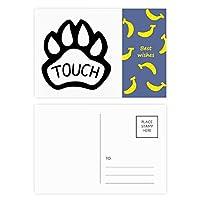 犬の足を引用して自作のデザイン バナナのポストカードセットサンクスカード郵送側20個