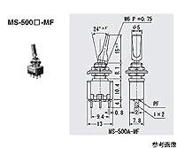 ミヤマ電器 スイッチ トグルタイプ 赤 ON-OFF-ON MS500CMF-R