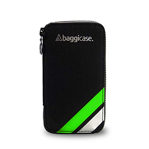 Baggicase S Verde (14x7,6cm). La Funda Impermeable para el móvil y Las pertenencias del Ciclista. Disponible en Tres Tallas S (14x7,6cm), M (15x7,9cm) y XL (16,3x8,5cm) y 8 Colores.