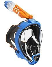 OCEAN REEF - Aria QR + maska do nurkowania – pełna maska z ustnikiem – zapewnia lepszą widoczność pod wodą 180 stopni