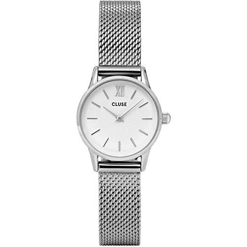 Cluse Unisex Erwachsene Digital Quarz Uhr mit Edelstahl Armband CL50005