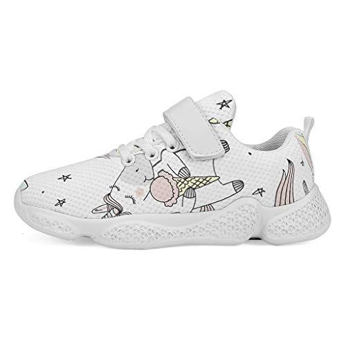 YxueSond - Zapatillas de deporte para bebé, diseño de unicornio, transpirables, informales, de malla, para correr, caminar, atlético, para niños