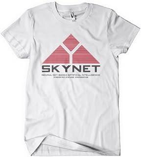 SKYNET MENS T-SHIRT TERMINATOR ROBOT T-1000 ARNIE CLASSIC FILM MOVIE TV RETRO