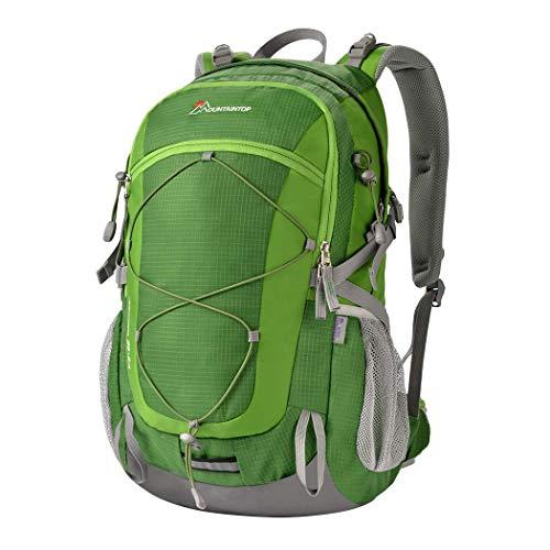 MOUNTAINTOP Mochilas Senderismo 40 litros, Portátil Mochila Trekking Impermeable, Mochilas de Montaña Hombre Mujer para Viajes Acampadas al Aire Libre (Verde)