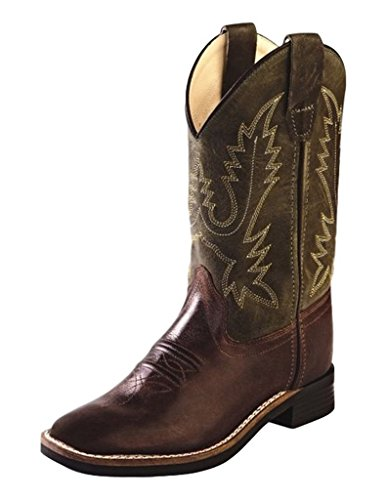 Old West Cowboy Boots Boys TPR Square 8.5 Infant Chocolate BSC1877