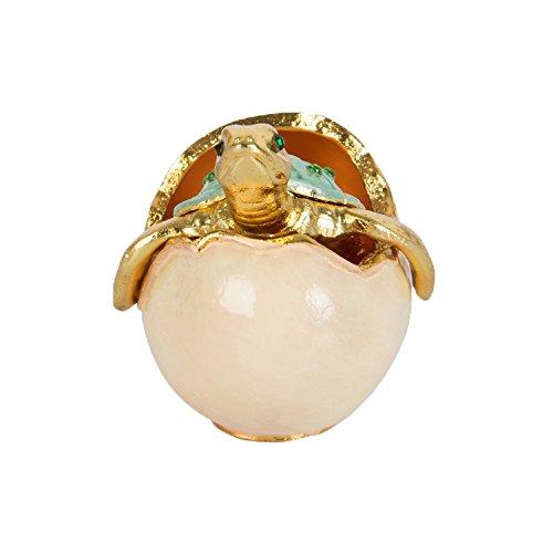QIFU - Caja de joyería decorativa con bisagras, diseño de tortuga marina pintada a mano, regalo único para decoración del hogar
