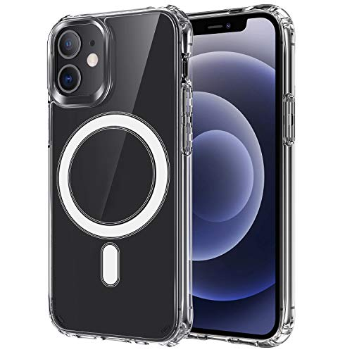 Clear Magnetic Phone Case for iPhone 11 Pro (5.8 inch), Compatible with MagSafe Wireless Charging, Protective Case with Magnetic Back, Support Magnetic Car Mount
