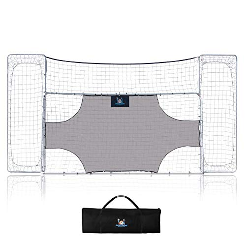ANYTHING SPORTS 3 in 1 Soccer Goal, Backstop, Target | 12x6 Soccer Goal with Soccer Backstop and Target for Backyard