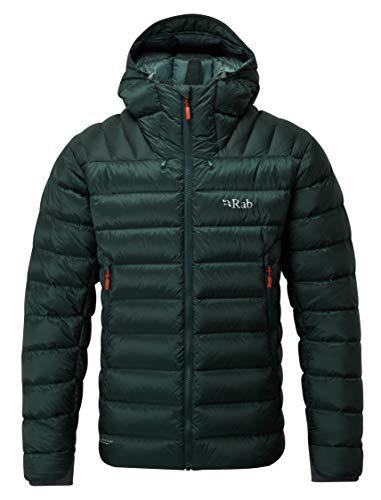 RAB Electron Jacket Grün, Herren Daunen Daunenjacke, Größe - Farbe Pine