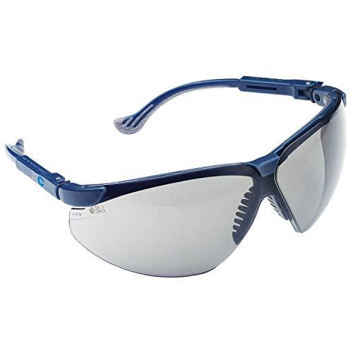 ECOSPAIN Gafas de Seguridad Laboral Honeywell 1011027 XC Blue, Frame Clear Fogban Lens