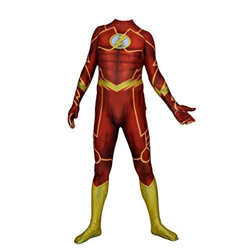 YUANY Mono de Flash Muscular para Adultos para niños, Disfraz de Cosplay...