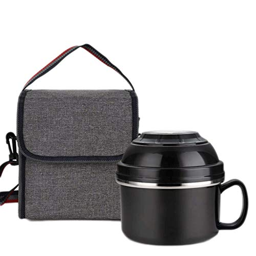 JJZXT Contenedor de Alimentos de Acero Inoxidable de Gran Capacidad - for picnics y Fiestas - Set de lonchera Bento for Adultos con Spork Plegable - Apto for lavavajillas y sin BPA - Todo Inoxidable