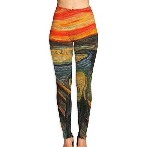 JJsister Women \'s The Scream von Edvard Munch Bedruckte Leggings Yoga Workout Leggings in voller Länge Hosen Soft Capri