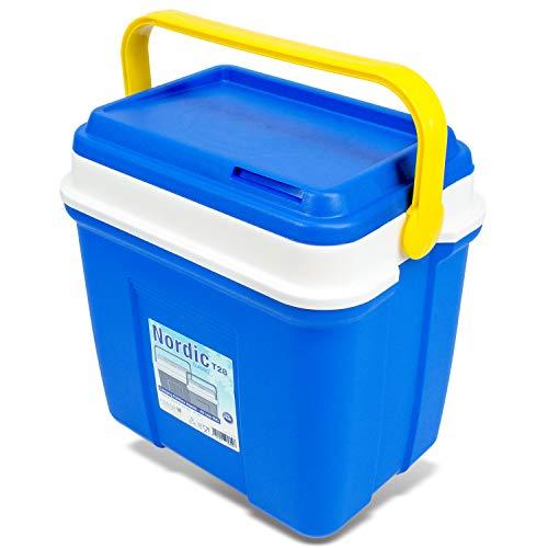 Kühlbox Thermobox Verschiedene Größen ideal für Picknick Auto und Camping - 26 L - Blau