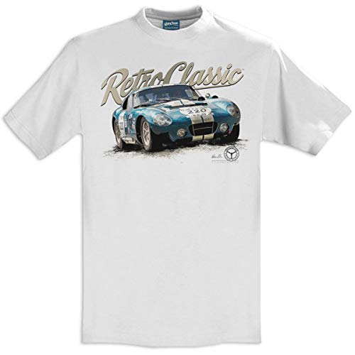 RetroClassic 1964 AC Cobra Daytona Coupe Classic Sports Car - Camiseta para hombre Blanco blanco XL