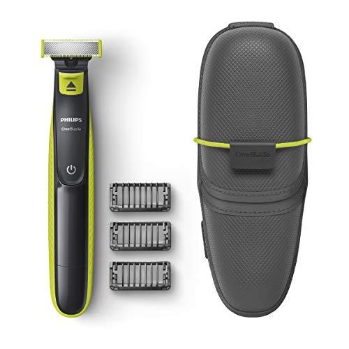 Philips OneBlade QP2520/65 - Rasoio per barba con 3 pettini e custodia da viaggio