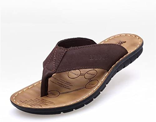 Men Flip Flops Shoes Leather Slipper Beach Outdoor Sandals