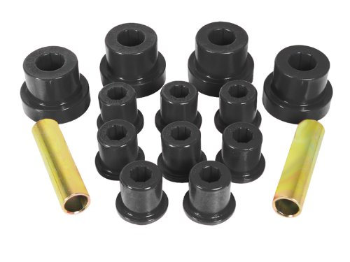 Prothane 1-1002-BL Black Front Spring Eye and Shackle Bushing Kit for Jeep CJ5 and CJ7