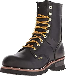 AdTec mens 9 Inch Logger-M Goodyear Welt Construction Leather Utility Boot 200g