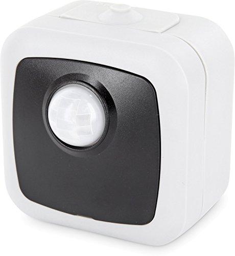 Infrarot Aufputz Bewegungsmelder IP44 120° - mit Dämmerungssensor - LED geeignet - schwarz-grau