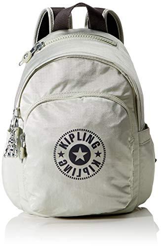 Kipling Women's Delia Mini Backpacks, Dynamic Silver, 22x29.5x18 cm