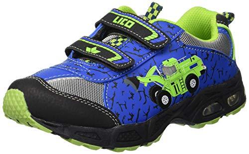 Lico Jungen Loader V Blinky Sneaker,Blau (Blau/Schwarz/Lemon), 26 EU