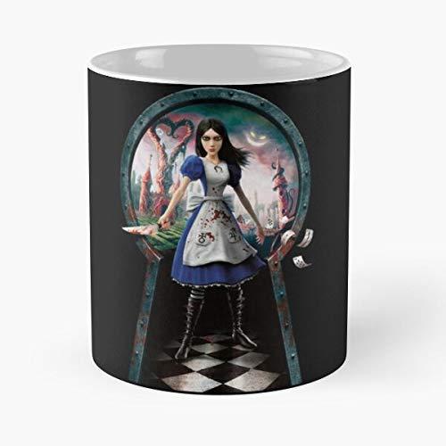 N\A Madness In Vorpal Cheshire Liddell Queen Hearts Alice Returns Blade Cat Queensland Wonderland of Best Taza de café de cerámica de 11 onzas
